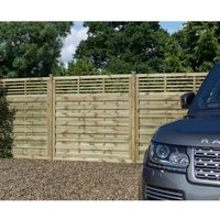Rowlinson Langham Garden Screen Fencing 6ft x 5ft Pack of 3, Natural
