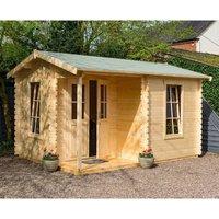 Rowlinson Log Cabin Garden Office  Natural