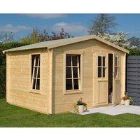 Rowlinson Log Cabin Garden Retreat  Natural