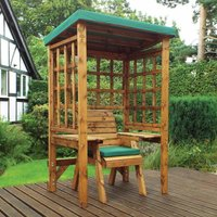 Charles Taylor Wentworth Single Seat Arbour with Cover, Green
