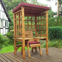 Charles Taylor Wentworth Single Seat Arbour with Cover, Burgundy