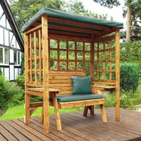 Charles Taylor Wentworth 2 Seat Arbour with Cover, Green