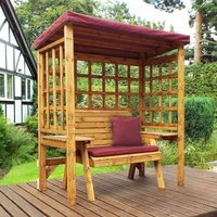 Charles Taylor Wentworth 2 Seat Arbour with Cover, Burgundy