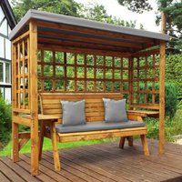 Charles Taylor Wentworth 3 Seat Arbour with Cover, Grey