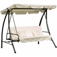 Alfresco 2-in-1 3 Seater Swing Seat with Canopy, Cream