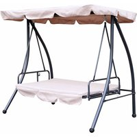 Alfresco 2-in-1 Swing Seat Daybed with Canopy, Beige