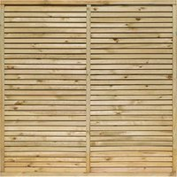 Rowlinson 6x6ft Cheshire Contemporary Screen Pack of 3, Natural