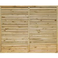 Rowlinson 6x5ft Cheshire Contemporary Screen Pack of 3, Natural