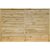 Rowlinson 6x4ft Cheshire Contemporary Screen Pack of 3, Natural
