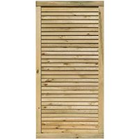 Rowlinson 3x6ft Cheshire Contemporary Screen Gate Pack of 3, Natural