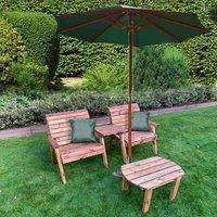 Charles Taylor Grand Straight Companion and Parasol Set, Green