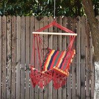 Alfresco Hammock Swing Chair Striped Seat