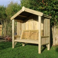 Hawthorn Fully Enclosed 3 Seater Arbour, Wood