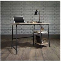 Teknik Office Industrial Bench Desk, Oak Effect