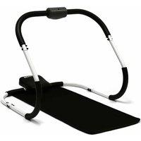 Charles Bentley Premium Ab Trainer Roller with Mat, Black