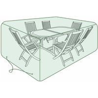 Image of Charles Bentley 6-8 Seater Oval Set Tarpaulin Garden Furniture Cover, Green