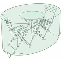 Charles Bentley Small Round Bistro Set Tarpaulin Garden Furniture Cover, Green