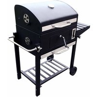 Charles Bentley Large American Grill Charcoal BBQ, Charcoal