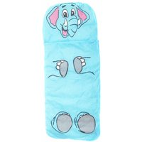 Childrens Jungle Animal Sleeping Bag Elephant, Blue