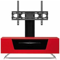 Alphason Chromium 1000 TV Cabinet with Bracket  Red