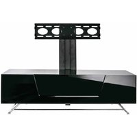 Alphason Chromium 1200 TV Cabinet with Bracket  Black