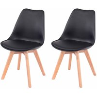 Aspen Upholstered Chair With Wood Legs Pack of 2, Black