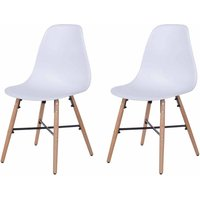 Aspen Plastic Chair With Metal Cross Rails Pack of 2, White