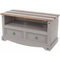 Corona Vintage Flat Screen TV Unit  Grey