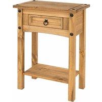 Corona Antique Wax 1 Drawer Hallway Table with Shelf, Anitque Wax