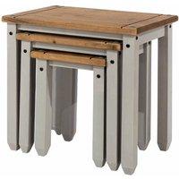 Corona Grey Nest of Tables, Grey