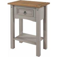 Corona Grey 1 Drawer Hallway Table with Shelf, Grey