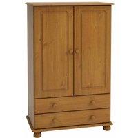 Steens Richmond 2 Door Over 2 Drawer Wide Wardrobe, Pine
