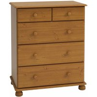 Steens Richmond Pine 2 Over 3 Deep Chest of Drawers, Pine