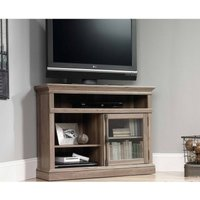 Teknik Barrister Salt Oak Finish Corner TV Stand  Oak