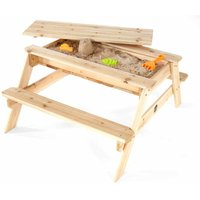 Plum Wooden Sand and Picnic Table, Brown