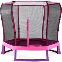 Plum Springsafe Junior Trampoline and Enclosure 7ft, Pink/Purple