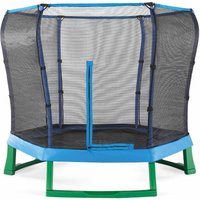 Plum Springsafe Junior Trampoline and Enclosure 7ft, Blue/Green