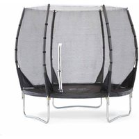 Plum Springsafe Trampoline and Enclosure 8ft, Black
