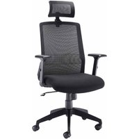 Image of TC Office Denali High Back Mesh Task Chair with Headrest, Black