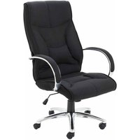 TC Office Whist Fabric Executive Chair with Sculpted Back, Black