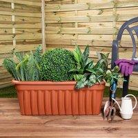 Wham Vista Traditional Trough 80cm Set of 5, Terracotta
