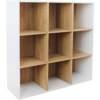 Dannington 9 Cube Shelving Unit White and Oak Effect