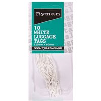 Strung Tags 60x120mm Pack of 10, White at Ryman Stationery