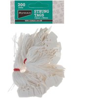 Strung Tags 13x20mm Pack 200, White at Ryman Stationery