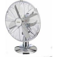 Status 12 inch Chrome Oscillating Desk Fan