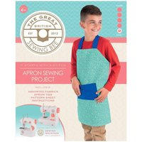 Great British Sewing Bee Apron Sewing Kit, White