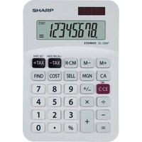 Sharp EL-330FB Desktop Calculator, White
