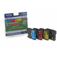 Brother LC1100 Inkjet Cartridge Value Pack of 4, Assorted