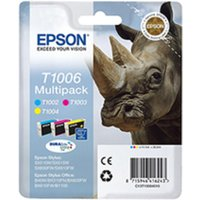 Epson T1006 High Capacity 3 Pack Ink Cyan Magenta and Yellow, C/M/Y