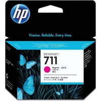 HP 711 3 Pack 29ML Ink Magenta, Magenta